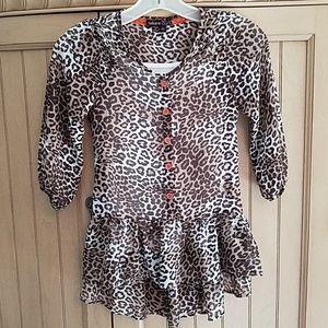 Takara leopard blouse w/white cami